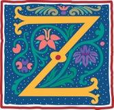 Uitstekende brief Z in kleur Royalty-vrije Stock Fotografie