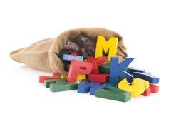 Uitstekende brieven van het alfabet Stock Foto