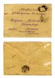 Uitstekende brievenenvelop Royalty-vrije Stock Foto's