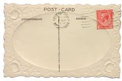 Uitstekende Britse prentbriefkaar stock afbeelding