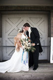 Uitstekende bruid en bruidegom stock foto