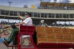 Uitstekende Budweiser-Bierwagen royalty-vrije stock foto's