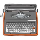 Uitstekende Bulgaarse Handschrijfmachine Royalty-vrije Stock Afbeelding