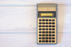 Uitstekende calculatormachine Royalty-vrije Stock Foto