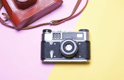 Uitstekende Camera, een concept hipster Royalty-vrije Stock Afbeeldingen