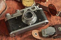Uitstekende camera en blootstellingsmeter Stock Afbeeldingen