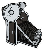 Uitstekende camera met een flitslicht stock illustratie