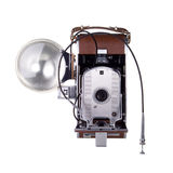 Uitstekende Camera met Flits Stock Foto's