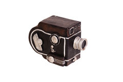 Uitstekende Camera op wit Stock Fotografie