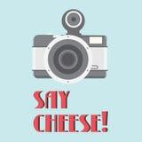 Uitstekende cameraaffiche Royalty-vrije Stock Afbeeldingen