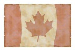 Uitstekende Canadese vlag Royalty-vrije Stock Foto's