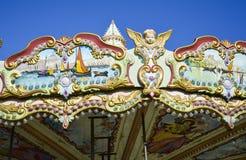 Uitstekende carrousel Stock Foto's