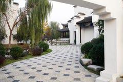 Uitstekende Chinese binnenplaats Royalty-vrije Stock Foto's