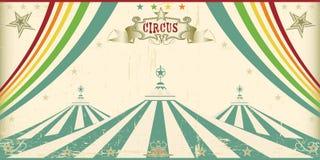 Uitstekende circuskaart royalty-vrije illustratie