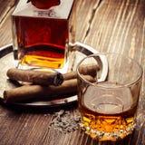 Uitstekende cognac Royalty-vrije Stock Foto's