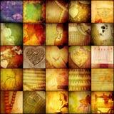 Uitstekende collageachtergrond, de traditionele dag van conceptenmoeders Stock Foto