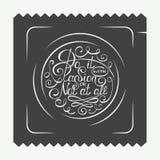 Uitstekende condoometiketten, embleem of kenteken met het hand getrokken element van het typografieontwerp Doe het met hartstocht royalty-vrije illustratie