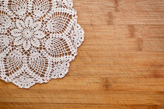 Uitstekende crochet doily royalty-vrije stock fotografie
