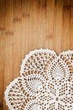 Uitstekende crochet doily Stock Afbeelding