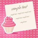 Uitstekende cupcakeachtergrond Stock Foto