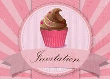 Uitstekende cupcakeachtergrond Royalty-vrije Stock Afbeelding