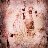 Uitstekende dansers op papier Stock Fotografie