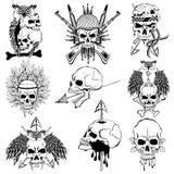 Uitstekende de druk retro achtergrond van de stijl grungy schedel royalty-vrije illustratie