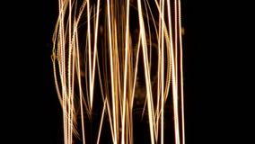 Uitstekende de gloeilampenmacro van gloeidraadedison stock videobeelden