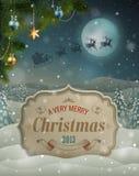 Uitstekende de groetkaart van Kerstmis Stock Fotografie
