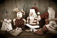Uitstekende de groetkaart van Santa Claus Royalty-vrije Stock Fotografie