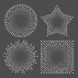 Uitstekende de lijnplons van de zonnestraal starburst abstracte retro zonneschijn stock illustratie