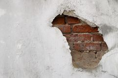 Uitstekende de steenbakstenen van het achtergrondtextuur oude metselwerk op het oude cement Royalty-vrije Stock Afbeelding