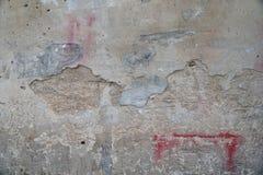 Uitstekende de steenbakstenen van het achtergrondtextuur oude metselwerk op het oude cement met barsten Royalty-vrije Stock Afbeelding