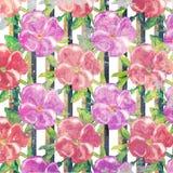Uitstekende de stijlachtergrond van het Grunge bloemenpatroon Stock Afbeelding