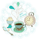 Uitstekende de theeachtergrond van de kleurenochtend Royalty-vrije Stock Afbeelding