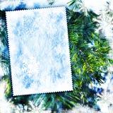 Uitstekende de winter geweven achtergrond Stock Foto's