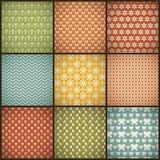 Uitstekende de zomer vector naadloze patronen (met Royalty-vrije Stock Foto