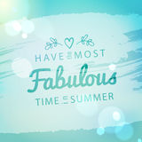 Uitstekende de zomervakantie en vakantieachtergrond Royalty-vrije Stock Foto