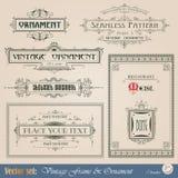 Uitstekende decoratieve elementen Royalty-vrije Stock Foto's