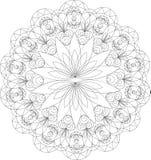 Uitstekende decoratieve elementen, mandalapatroon Royalty-vrije Illustratie