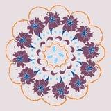 Uitstekende decoratieve elementen, mandalapatroon vector illustratie