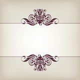 Uitstekende decoratieve overladen de kalligrafievector van het grenskader Royalty-vrije Stock Fotografie