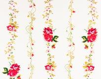 Uitstekende decoratieve rood nam document toe Royalty-vrije Stock Afbeelding