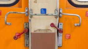 Uitstekende deur op het treincompartiment Royalty-vrije Stock Afbeelding