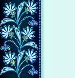 Uitstekende die achtergrond met bloemen van edelstenen en stri wordt gemaakt Stock Foto