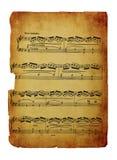 Uitstekende die bladmuziek op wit wordt geïsoleerd Royalty-vrije Stock Foto's