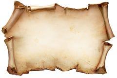 Uitstekende die document rol op wit wordt geïsoleerd Royalty-vrije Stock Foto's