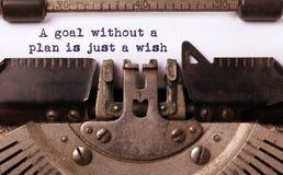 Uitstekende die inschrijving door oude schrijfmachine wordt gemaakt Stock Foto