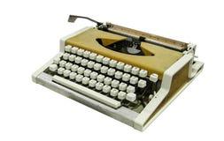 Uitstekende die schrijfmachine met het knippen van weg wordt geïsoleerd Royalty-vrije Stock Foto