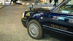 Uitstekende die Taxi in Japan wordt gebruikt Royalty-vrije Stock Foto